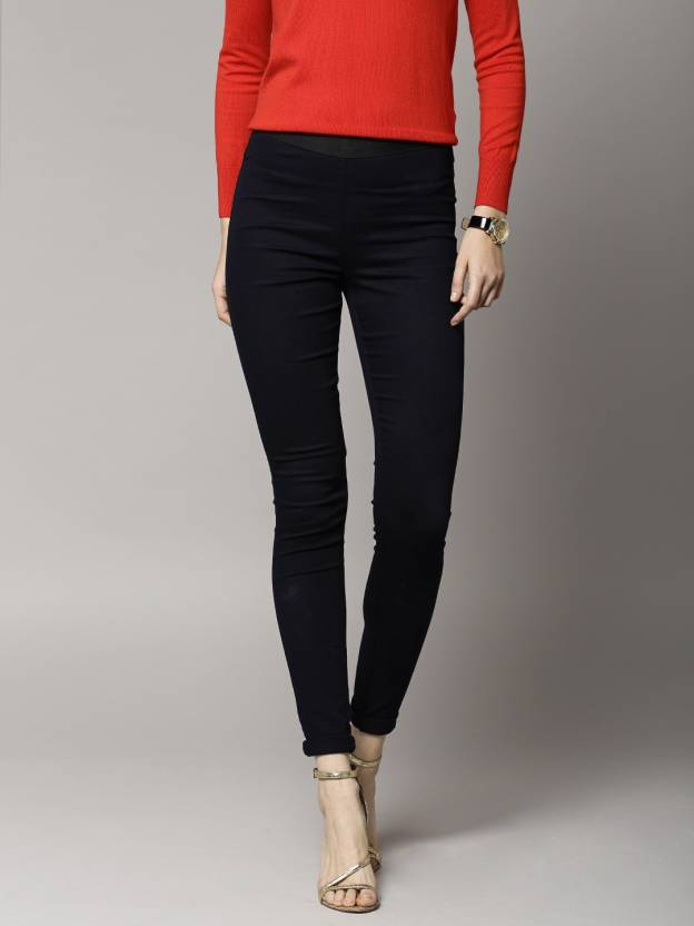 190685afd894c9 Marks & Spencer Dark Blue Jegging Price in India - Buy Marks ...
