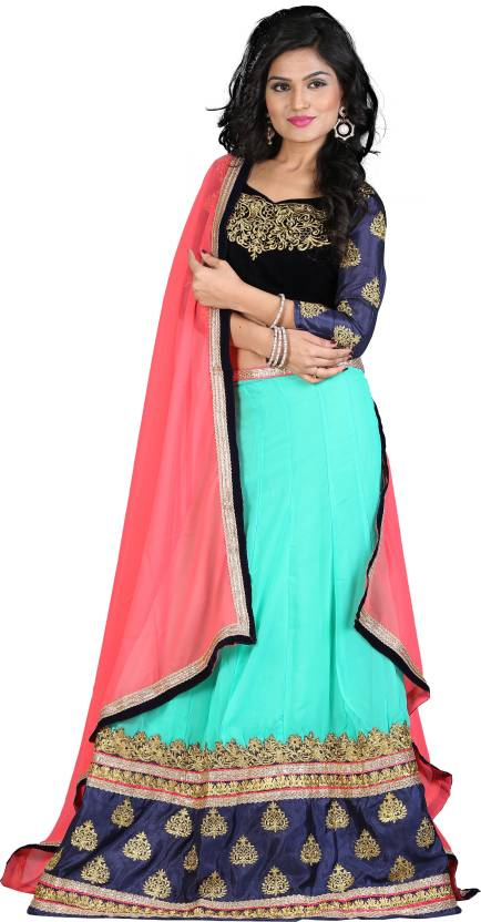 3c2a54702e9e7 Greenvilla Designs Embroidered Lehenga