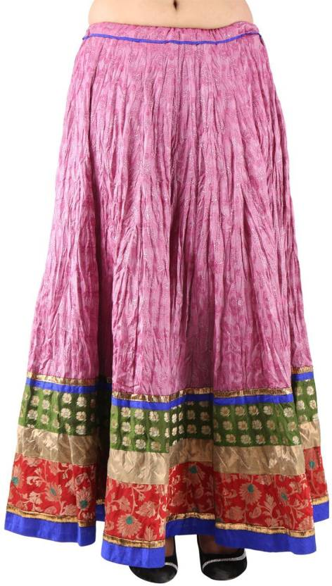 49f8c9cc866094 ARYA The Design Gallery Self Design Women s Regular Pink Skirt - Buy Fushia  ARYA The Design Gallery Self Design Women s Regular Pink Skirt Online at  Best ...
