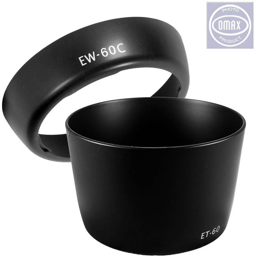 Omax EW 60c   ET 60 For Canon 18 55mm Lens   EW 60c   ET 60\n55 250mm Lens Hood 58 mm, Black