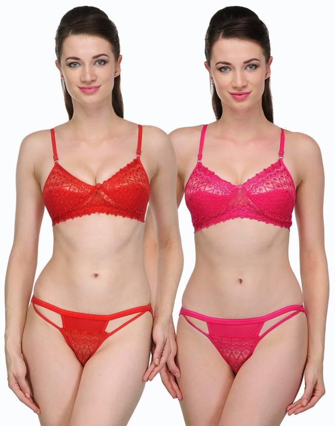 Urbaano Wedding Lingerie Set - Buy Red   Pink Urbaano Wedding Lingerie Set  Online at Best Prices in India  31608fd1b
