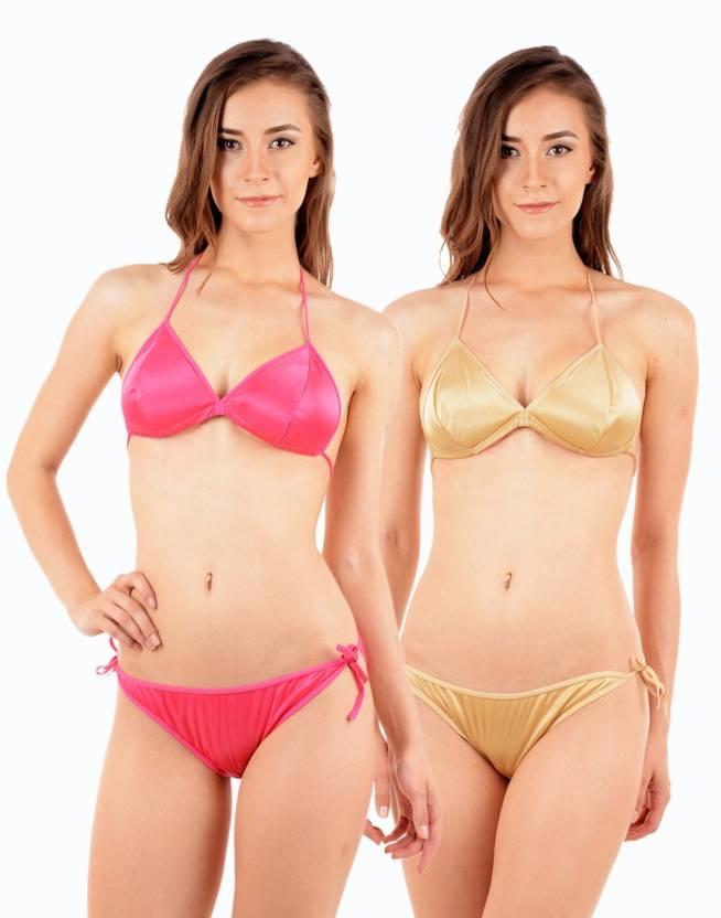 4e4f59c587 Urbaano Beach Wear Lingerie Set - Buy Golden Urbaano Beach Wear Lingerie Set  Online at Best Prices in India