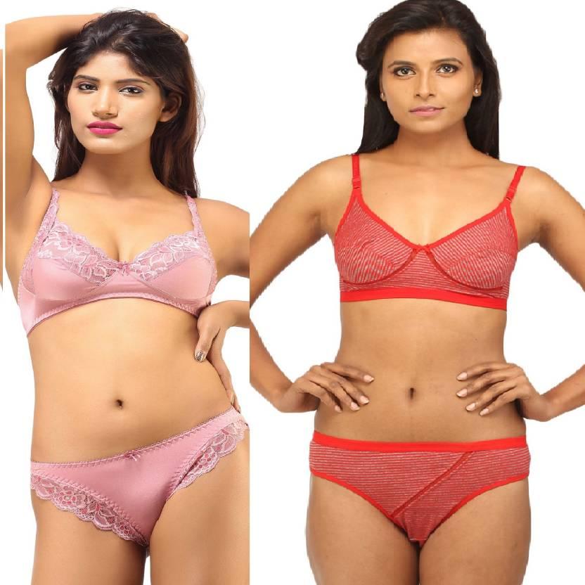 d8fdfa01d2a DesiHarem Festive Lingerie Set - Buy Pink
