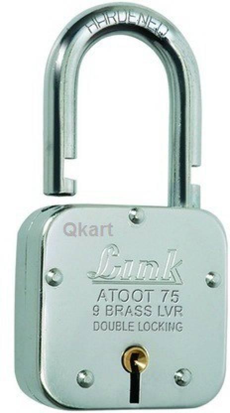 Qkart Link Locks Atoot 75 mm with 3 Keys Padlock - Buy Qkart Link