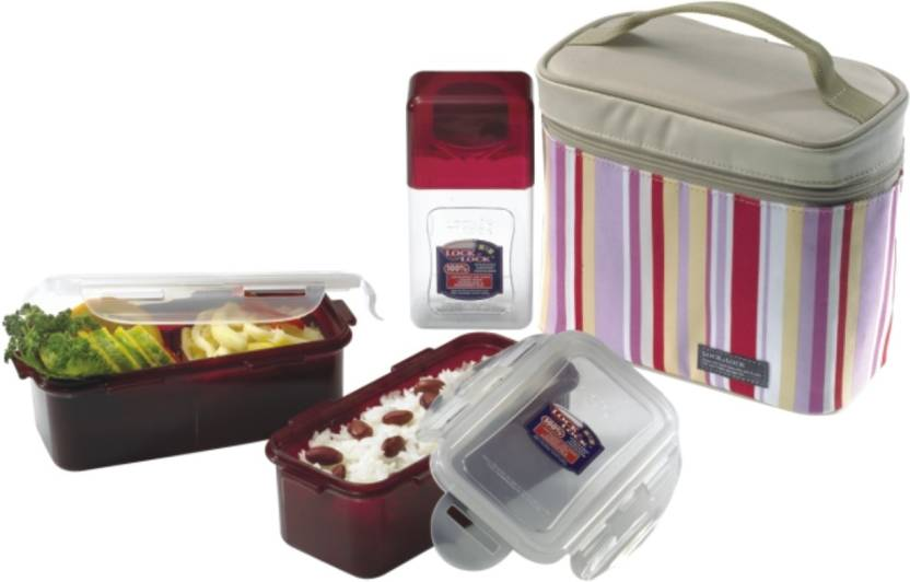Lock & Lock HPL762RP 3 Containers Lunch Box
