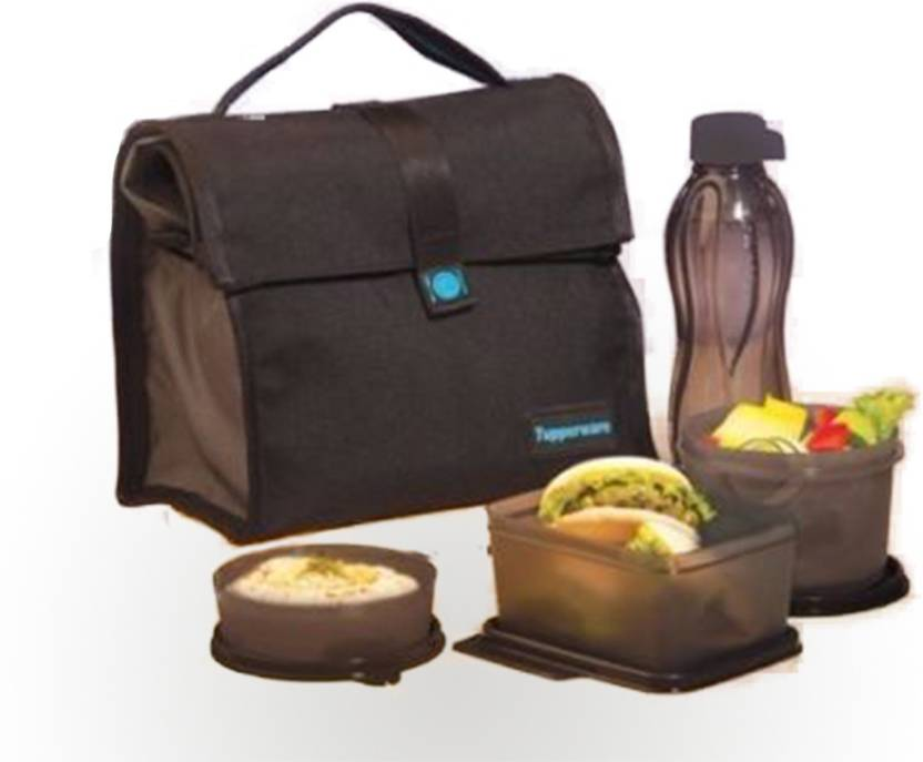 Tupperware The Satchel Lunch Bag With 4 Containers Box