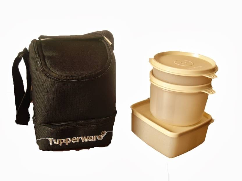tupperware trendy 3 containers lunch box. Black Bedroom Furniture Sets. Home Design Ideas