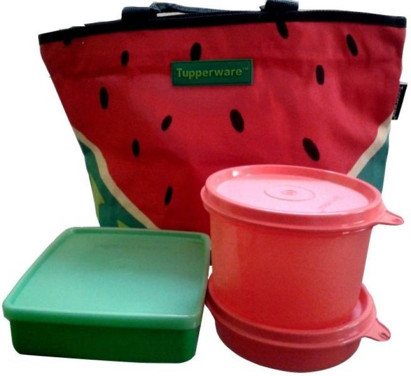 tupperware watermelon lunch set 3 containers lunch box. Black Bedroom Furniture Sets. Home Design Ideas
