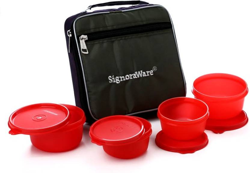 Signoraware Fresh Lunch Box (With Bag)-549 4 Containers Lunch Box