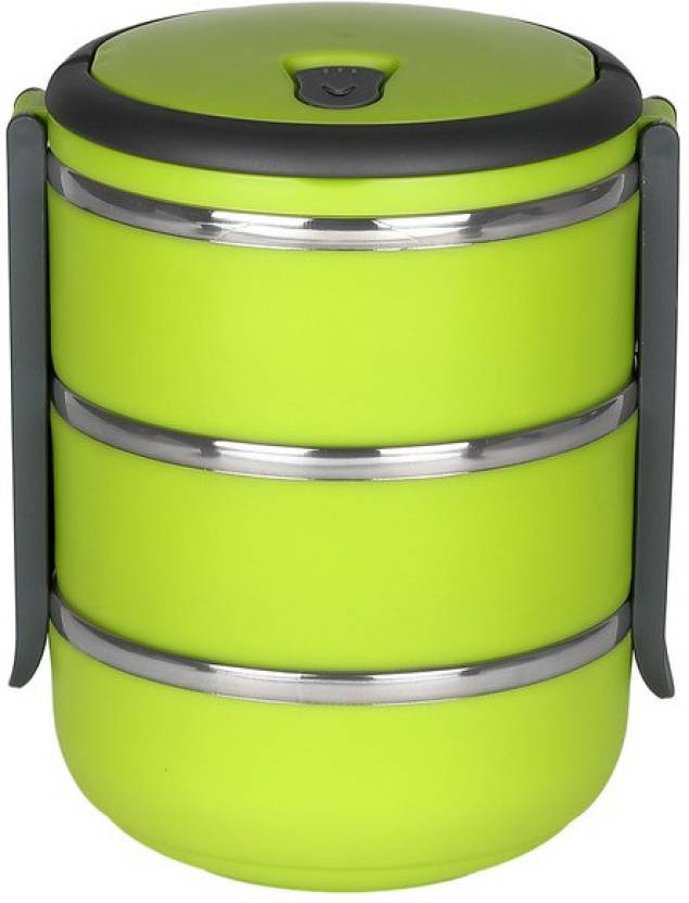 232fcf7915 Cosmosgalaxy Layer Single Lock-Green 3 Containers Lunch Box (750 ml)