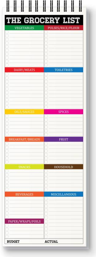 nourish grocery list magnetic note pads price in india buy nourish