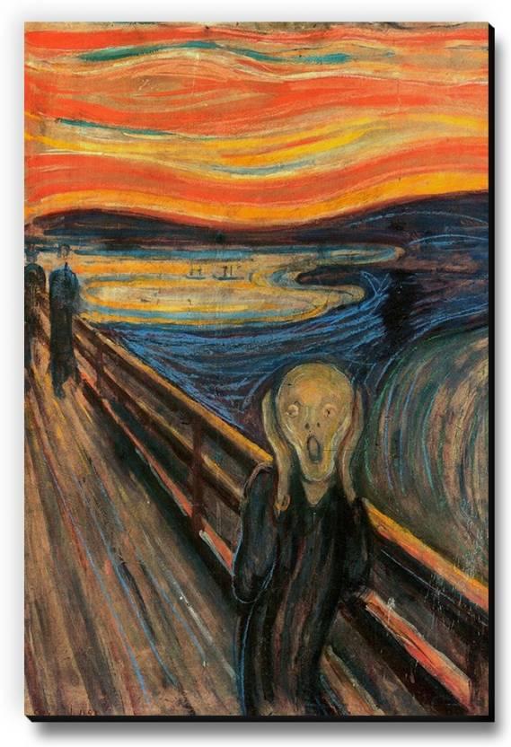 Seven Rays The Scream By Edvard Munch Fridge Magnet