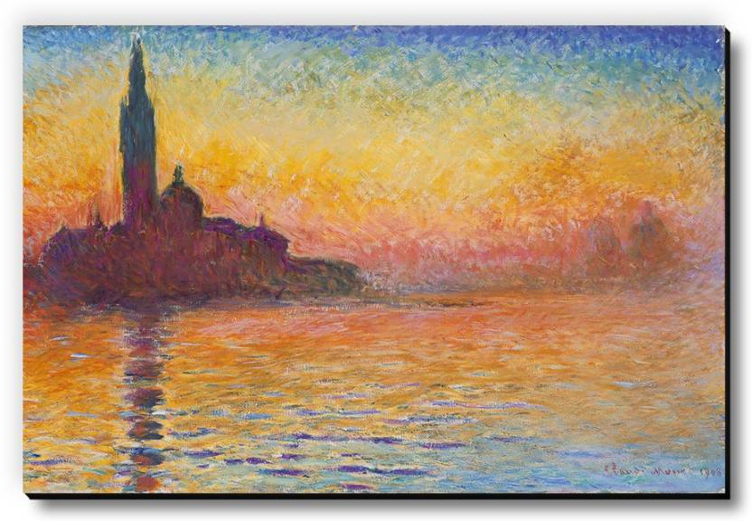 Seven Rays Sunset In Venice by Claude Monet Fridge Magnet Pack of 1 Multicolor