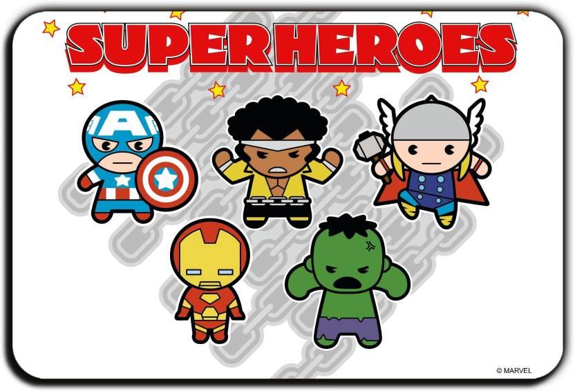 8e19b527d Marvel Kawaii- super heroes (Officially Licensed) Fridge Magnet Pack of 1  (Multicolor)