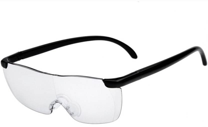 11b0ffececcb Kawachi New Big Vision Magnifying Eyewear Glasses unisex Vision plastic  2.5X Magnifying Eyewear (Transparent)