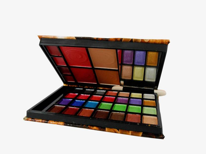 Adbeni Lijindie Multi Color Makeup Kit-With Free Mars Eye/Lipliner & Adbeni Accessories-RGRM (Pack of 2)