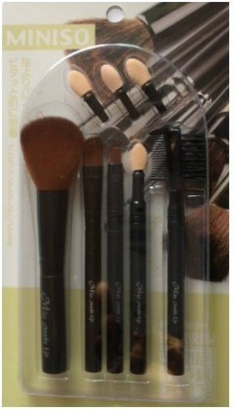 a9e3b72e1 miniso 8 pieces makeup brush kit - Price in India