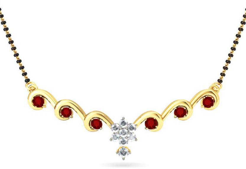 Jack n Jewel 18 Carat Gold Ruby Yellow Gold Mangalsutra