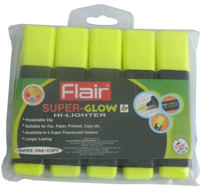 Flair Chisel Tip Highlighter Pens