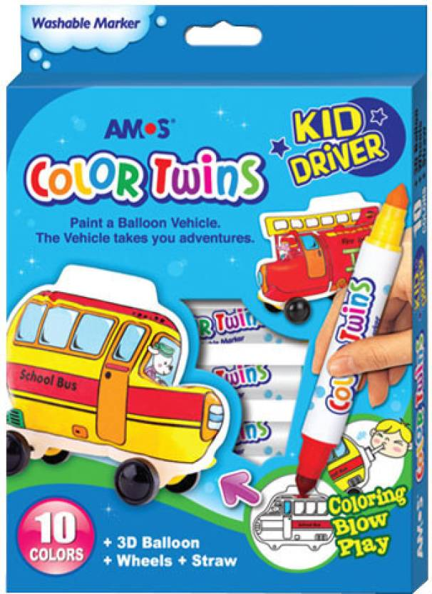 Amos Conical Tip Washable Coloring Marker