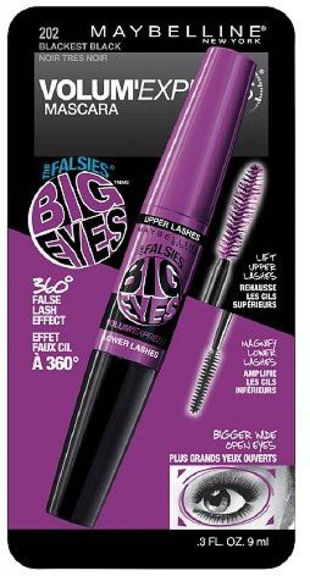 832a9647445 Maybelline Volum' Express The Falsies Big Eyes Washable Mascara 9 ml  (Blackest Black)