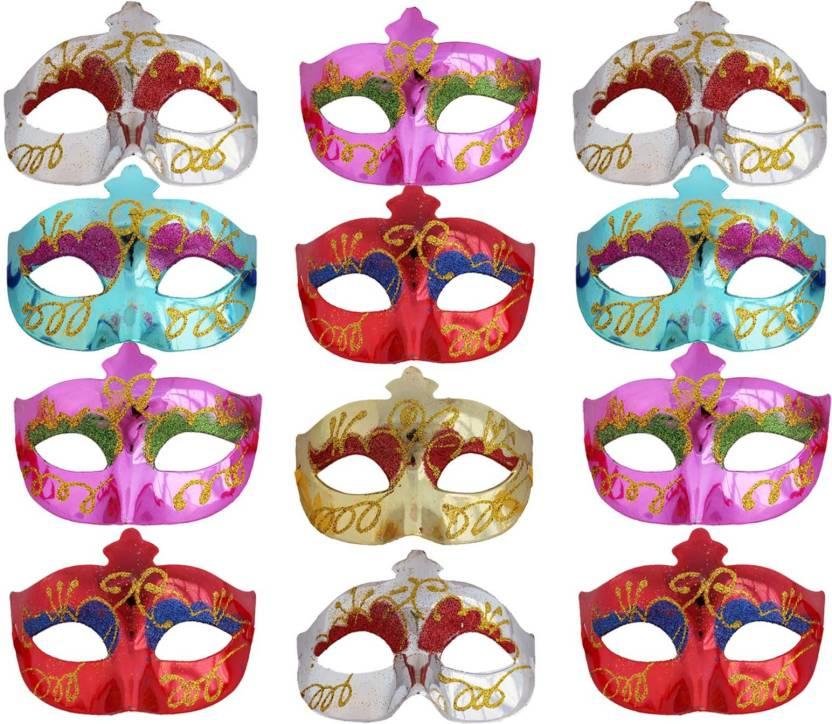 Carnival Halloween Theme.Tootpado Set Of 12 Glossy Carnival Eye Masks For Halloween
