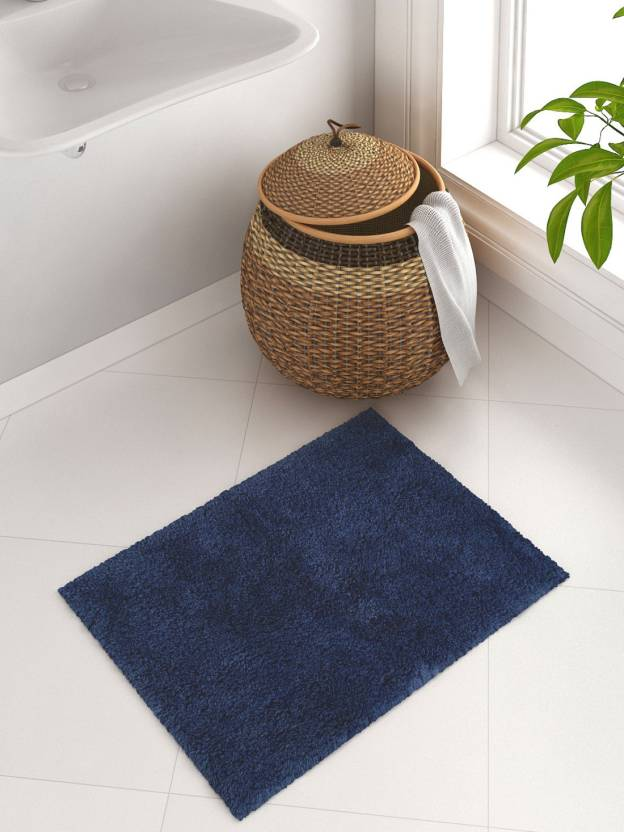 WELHOME Cotton Bathroom Mat