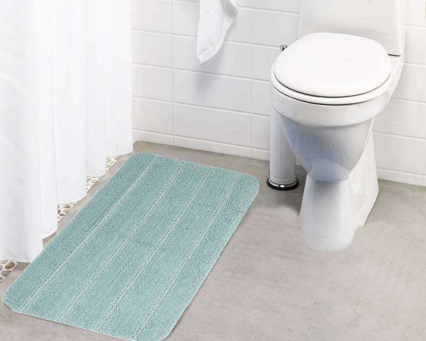 Lushomes Microfiber Bathroom Mat Green, Large Lushomes Bath Mats