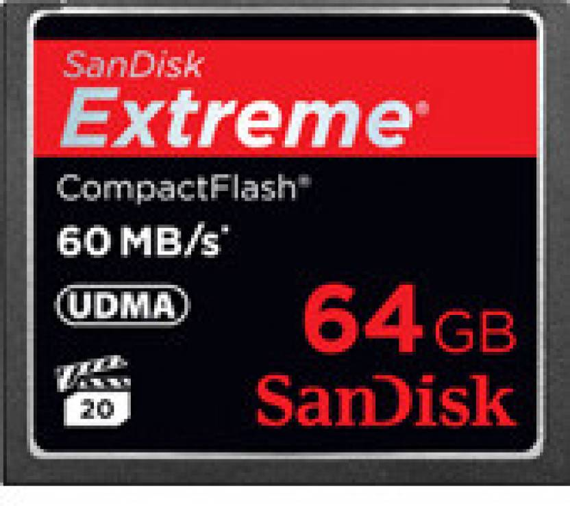 SanDisk Extreme 64 GB Compact Flash 60 MB/s  Memory Card