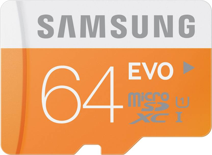 SAMSUNG Evo 64  GB MicroSDXC Class 10 48 MB/s  Memory Card MB s MBs available at Flipkart for Rs.1499