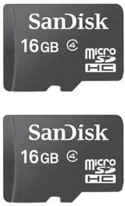Sandisk 16 Gb Microsd Card Class 4 Memory Card Sandisk Flipkart Com