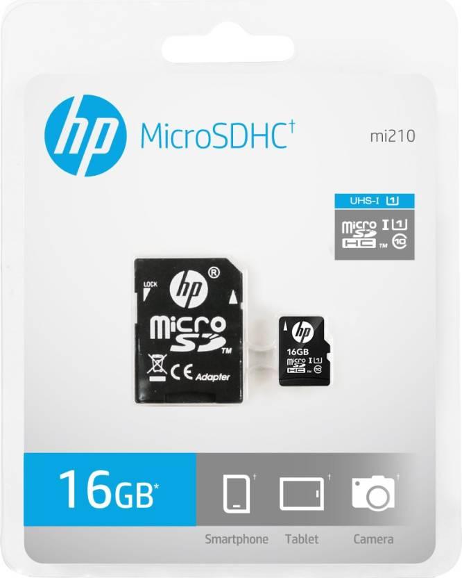 HP U1 16 GB MicroSD Card Class 10 90 MB/s Memory Card (With Adapter)