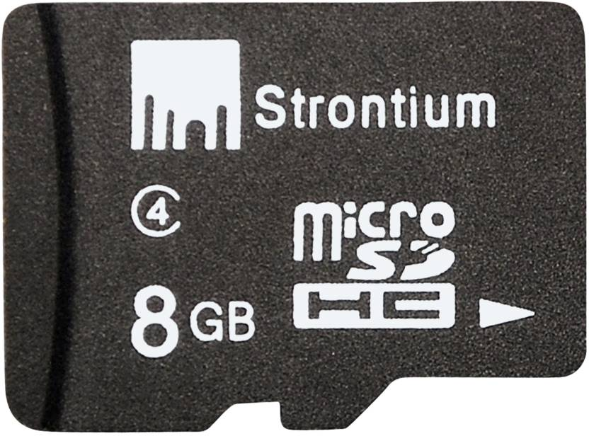 Strontium 8 GB MicroSD Card Class 4  Memory Card