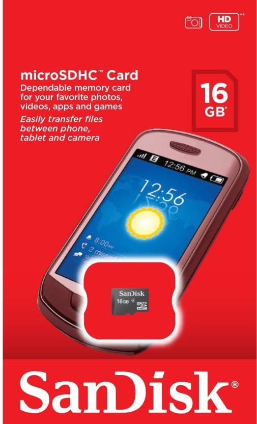 SanDisk 16  GB SD Card Class 4 4 MB/s Memory Card MB s MBs available at Flipkart for Rs.420