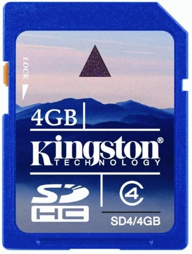 Kingston 4 GB SDHC Class 4 20 MB/s  Memory Card
