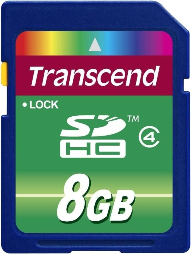 Transcend 8 GB SDHC Class 4  Memory Card