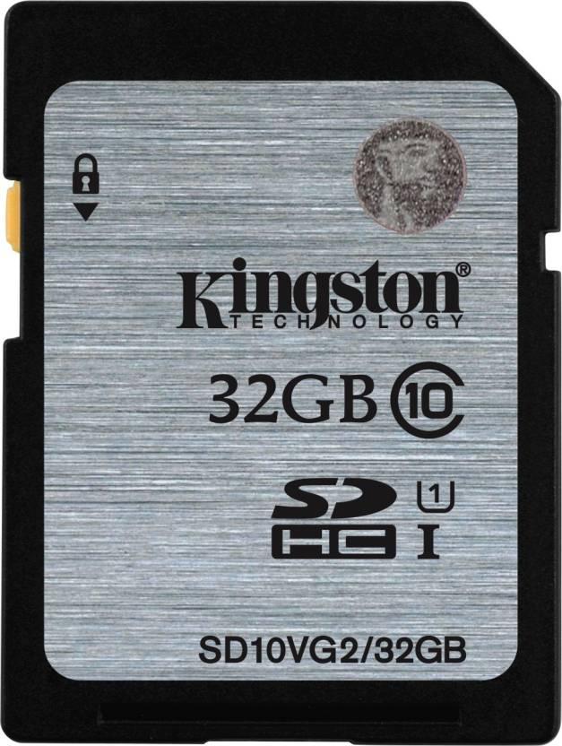 Kingston 32 GB SDHC Class 10 80 MB/s  Memory Card