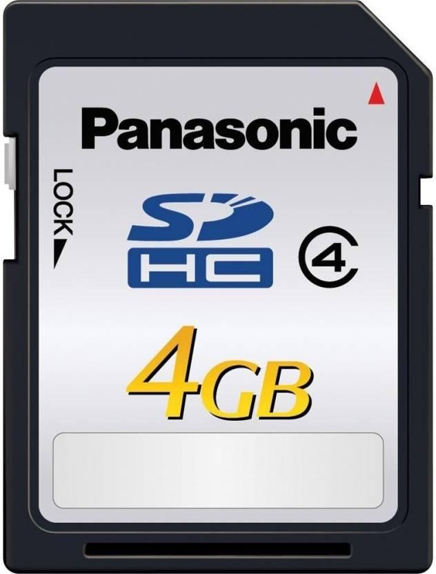 Panasonic 4 GB SDHC Class 4 20 MB/s  Memory Card