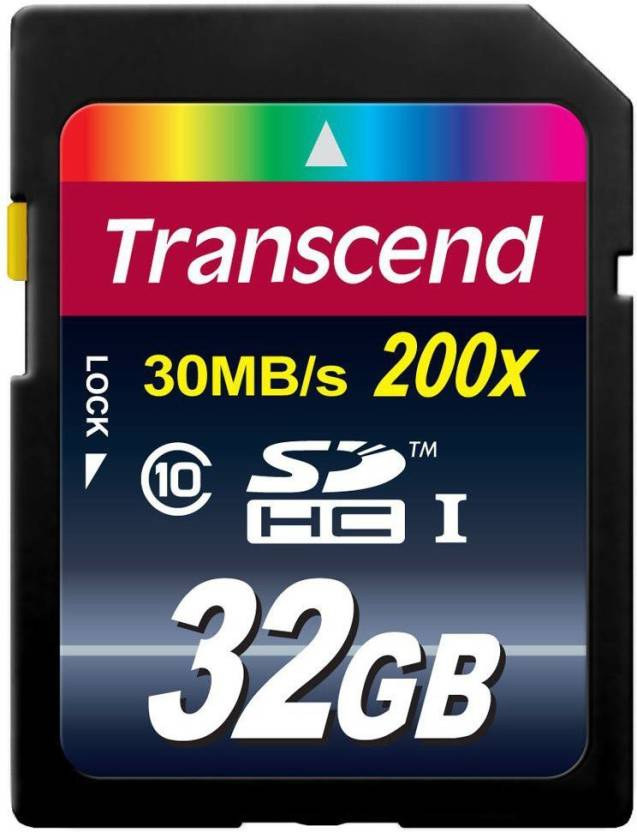 Transcend 32 GB SDHC Class 10 30 MB/S  Memory Card