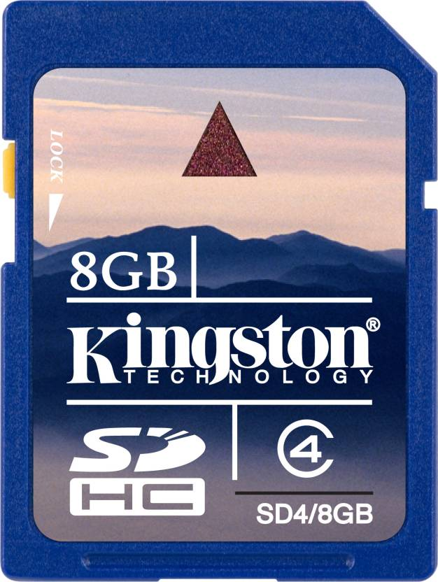 Kingston 8 GB SDHC Class 4 20 MB/s  Memory Card
