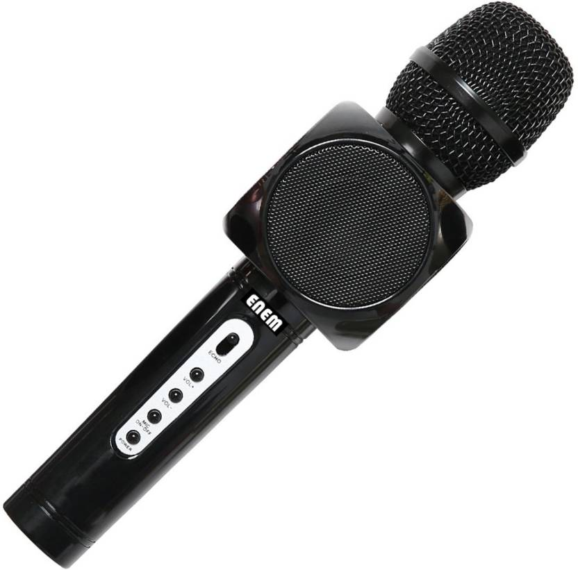 Enem Wireless Microphone Karaoke with Portable Speaker for listen Music &  Singing 3-in-1 Bluetooth Karaoke mic for iPhone,Android,Pc Microphone