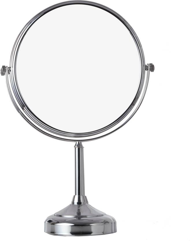 Makeup Mirror.Dolphy Silver 5x Tabletop Shaving Makeup Vanity Magnifying Mirror