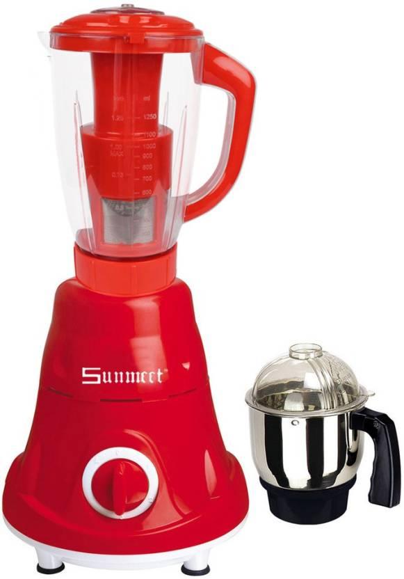 Sunmeet Latest Jar attachments of chutney & juicer jarType-241 600 W Juicer Mixer Grinder