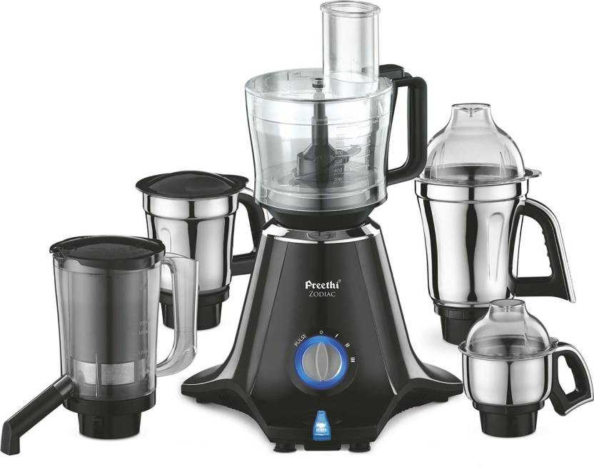 Preethi Zodiac MG-218 750 W Juicer Mixer Grinder  (Black/Light Grey, 5 Jars)
