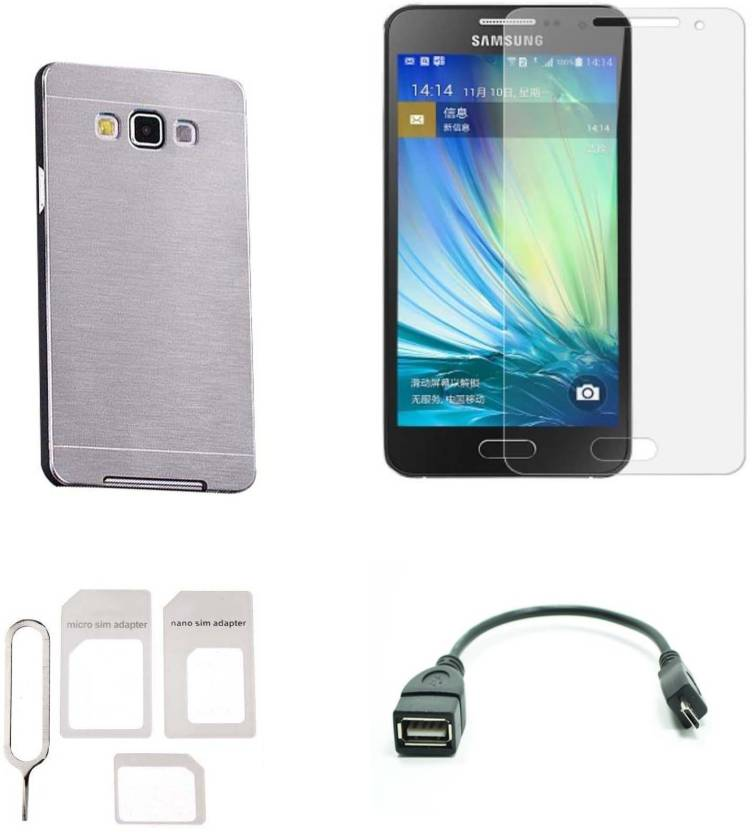 new concept a1bc3 040b2 JkShop Brushed Metal Back Cover For Samsung Galaxy A5 Accessory ...