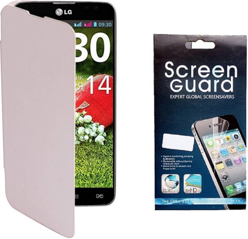 outlet store c1e46 53425 Kolor Edge Flip Cover and Screen Guard for LG G Pro lite Dual D686 ...
