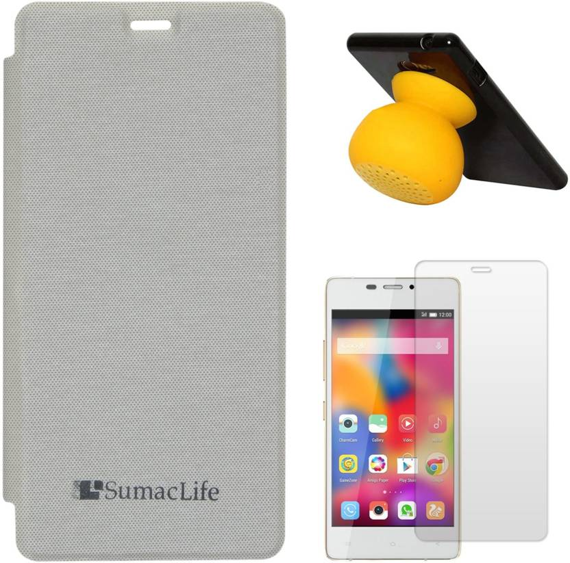 size 40 33185 f2236 Capaz PU Leather Flip Cover Case for Gionee M2 (White) + Bluetooth ...