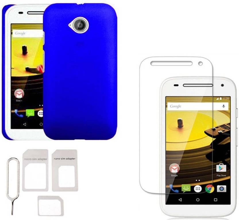 finest selection 60f4a 32165 JkShop Hard Matte Back Cover For Motorola Moto E2 2nd Gen.(Blue ...
