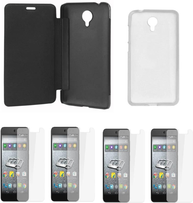 quality design 8b133 be3ab iCopertina Micromax Canvas Xpress 2 E313 Flip Cover and Transparent ...