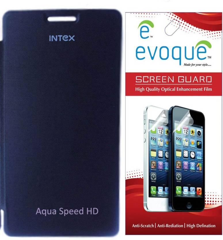 promo code d75f3 ba7b1 Evoque Flip Cover For Intex Aqua Speed HD With Screen Guard ...